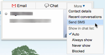 GMail SMS Chat no more…