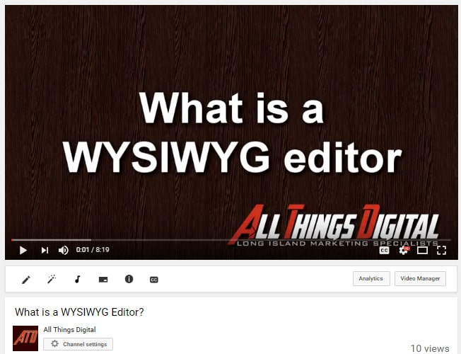 What is a WYSIWYG Editor?